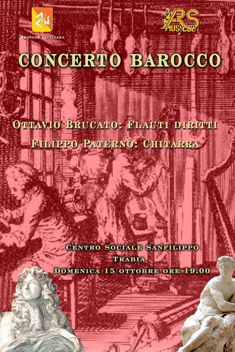 "Locandina concerto ""Duo Barocco"""