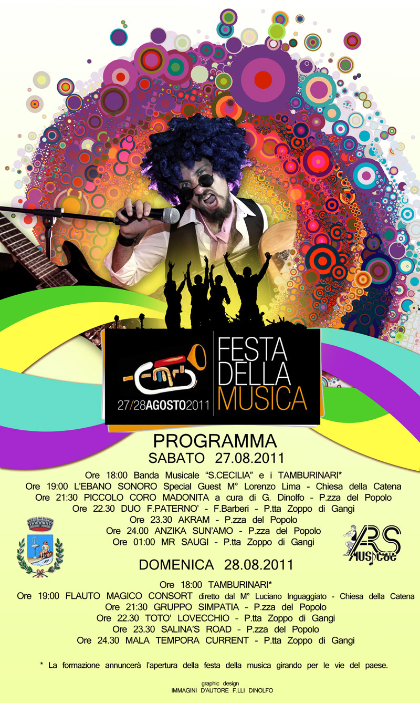 Locandina rassegna Festa della Musica 2011