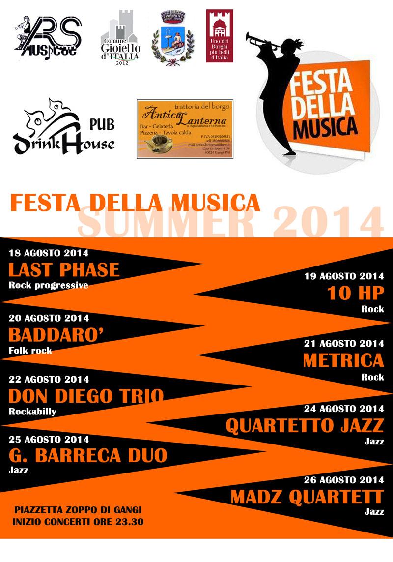 Locandina rassegna Festa della Musica 2014