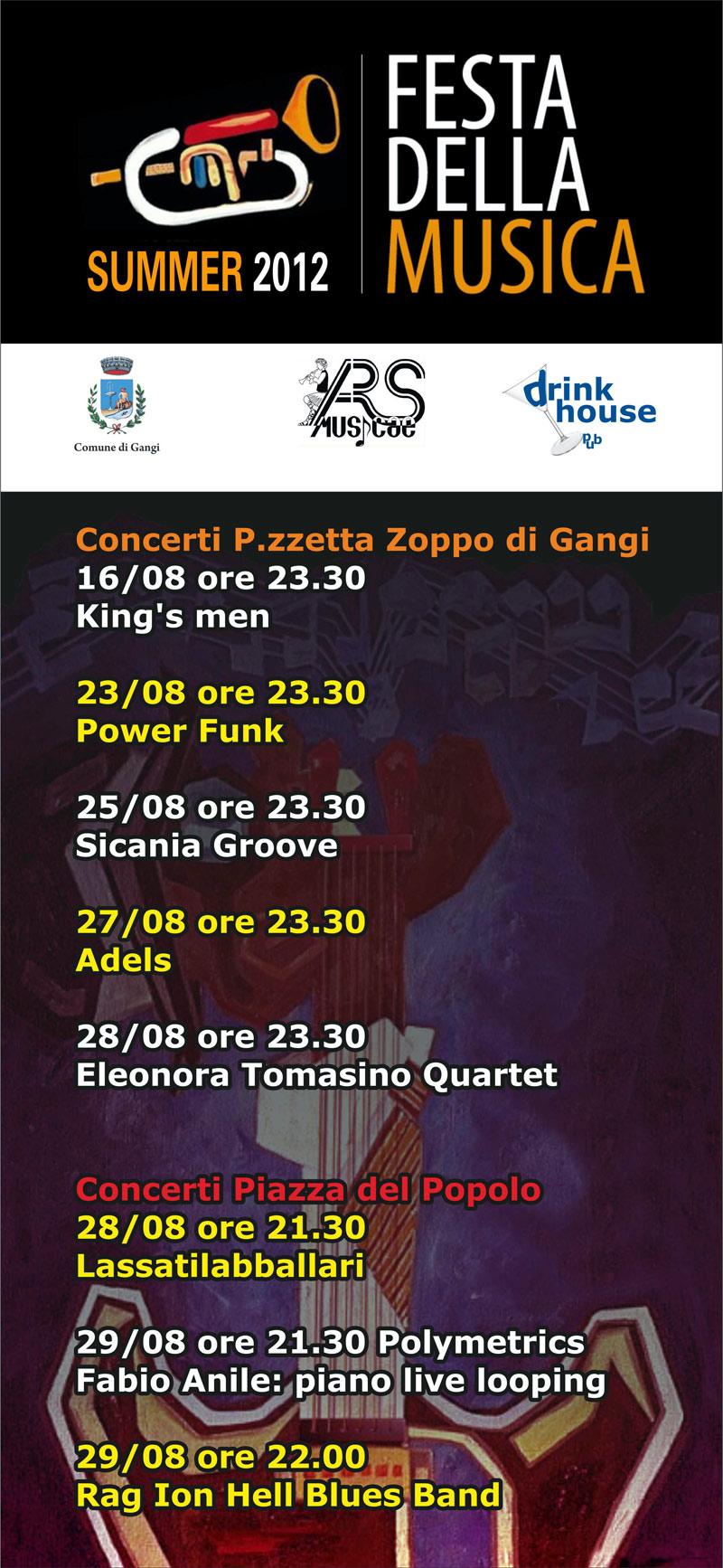 Locandina rassegna Festa della Musica 2012